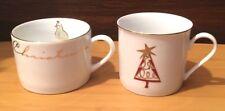 2 Pier 1 Christmas Cups Mugs - 12 days of Christmas and Christmas Tree