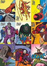 MARVEL THE SILVER AGE 1998 FLEER SKYBOX COMPLETE BASE CARD SET OF 100