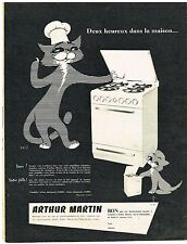 PUBLICITE ADVERTISING  1955   ARTHUR  MARTIN cuisinière