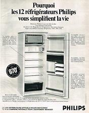 PUBLICITE  1969   PHILIPS  REFRIGEATEUR FRIGIDAIRE