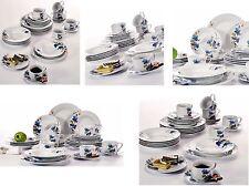 30PC Complete Dinner Set Plates Bowls Mugs Ceramic Dinnerware Kitchen Dining Set