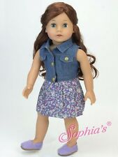 """Doll Clothes AG 18"""" Dress Denim Vest by Sophia Made For American Girl Doll"""