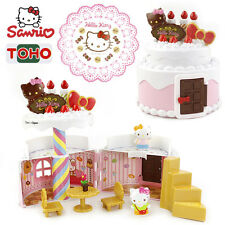 Sanrio Hello Kitty Birthday Cake House Play House Toy Figures Set Gift