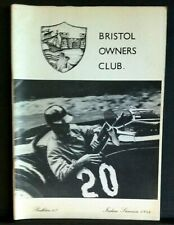 BRISTOL OWNERS CLUB Bulletin - Number 67 - Indian Summer 1984