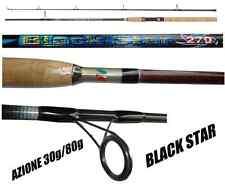 canna da spinning black star 2.40m lancio 30/80g pesca luccio serra spigola tp