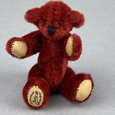 Tiny Hermann Teddy Original ® Miniature 5cm Red Plush Bear