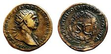 *AET* TRAJAN AE As. VF+. Wreath - SC. Struck at Rome for circulation in Syria.
