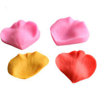 2PCS Leaves Silicone Mold Fondant Cake Sugarcraft Decorating Mould Baking DIY