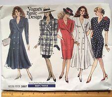 Vogue's Basic Design Misses Size 14-18 Dress Tunic Skirt Uncut Pattern #2007