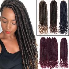 Goddess Faux Locs Curly Crochet Braids Real Box Braiding Hair 24 Strands Box LC1