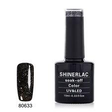 SHINERLAC 80633 'DARK DIAMONDS' UV/LED Soak Off Gel Nail Polish 10 ML POLISH
