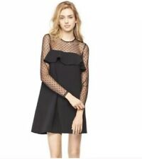 Milly Womens Sophie Black Long Sleeve Mini Cocktail Party Dress 4
