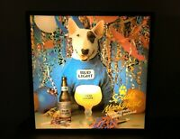 Vtg 1988 SPUDS MACKENZIE 18x18 original lighted up bar sign Bud Light beer WORKS