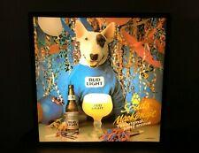 Vtg 1988 Spuds Mackenzie 18x18 original lighted up bar sign Bud Light beer Works