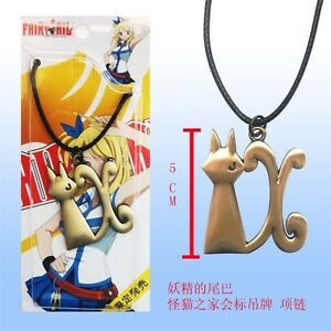 Fairy Tail Necklace Natsu Dragonil Collier Pendentif Clé Manga Lucy Cosplay #3