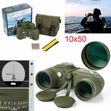 10x50 Hd Zoom Binoculars Navy w/Rangefinder Compass Reticle Telescope Hunting