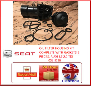 OIL FILTER HOUSING KIT COMPLETE WITH GASKETS 8 PIECES SEAT 1.6 2.0 TDI 03L11538