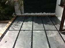 Brazilian Black Calibrated Slate Flagstones 45cmx180cmx2.5cm
