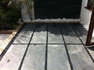Brazilian Black Calibrated Slate Flagstones 45cmx180cmx2.5cm