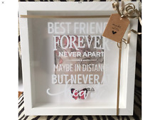 """WHITE """" BEST FRIENDS FRAME MADE TO ORDER  PICTURE"""
