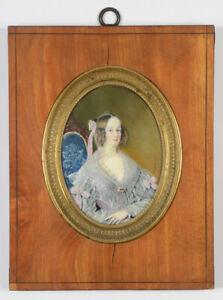 "Mlle Aimée Thibault ""Evelina, comtesse de Monbadon"", superior quality miniature"