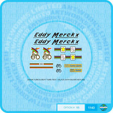 Eddy Merckx Bicycle - Decals - Transfers - Stickers - Set 11