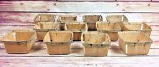 12 Vintage Quart Wooden Berry Baskets Wood Fruit Farm rustic wedding decor favor