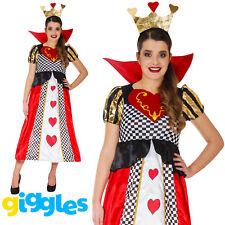 Queen of Hearts Costume Fairytale Longer Womens Fancy Dress World Book Week Day