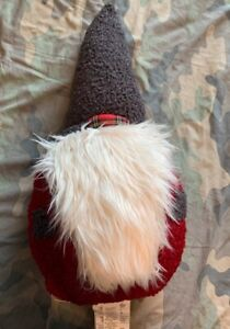 """Pottery Barn Clarke Gnome Pillow/Teddy Valentine's Day Stands Up 25"""" Tall NWT"""