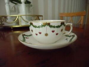 Royal Copenhagen Star Fluted Christmas Teetasse mit Untertasse 32 cl wie neu
