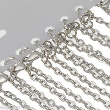 12Pcs Dull Silver Tone Lobster Claw Clasp Link Chain Necklaces Pendants New 18""