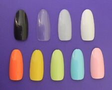 Nail Art Colouredpre Designed Tip Artificial Nail Tips Ebay