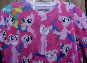 *WELOVEFINE* My Little Pony PINKIE PIE Short Sleeve Shirt Tee Top Stretch Small