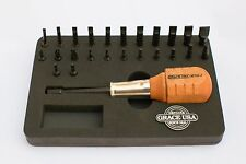 Grace USA MT-24 Gunsmith 24 Bit Magnetic Tip Screwdriver Set