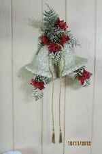 Vintage Large Christmas Bell Wall Display Paper Mache 26""