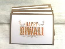 Happy Diwali Pack Of 4 Greeting Cards (blank Inside) Festival Of Light
