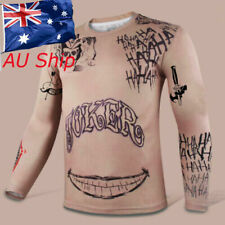 Joker Tattoos T-Shirt Suicide Squad 3D Print Long Sleeve Tee Cosplay Costume New