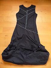 robe bretelles SEPIA originale noire sans manches déco rivets argentés T40