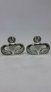Master Airborne Paratrooper Cuff Links Solid Sterling Silver