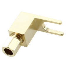 Banana to Spade Adapter Plug Speaker Cable Connector Y8B4