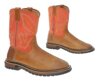 ROCKY Cowboy Boots 4 M Boys Youth Brown Quickdraw WESTERN Boots Roper Boots