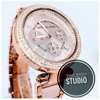 Michael Kors MK5896 Rose Gold Parker Watch Ladies Wristwatch Free Fast Delivery
