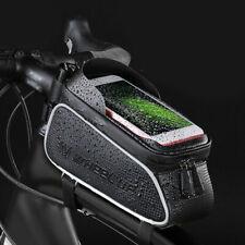 Impermeabile Borsa Da Telaio Nero Per Bici MTB Per Cellulare 6'' Con Touchscreen