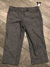AGB CROPPED Black STRETCH DRESS PANTS SIZE 14 NWT