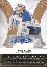 12-13 SP Game Used Jake Allen Authentic Rookie Autographs Gold St. Louis Blues