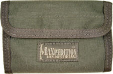 "Maxpedition Spartan Wallet Foliage Green 0229F 5 1/2"" x 3 1/2"" x 1/2"" closed. Co"
