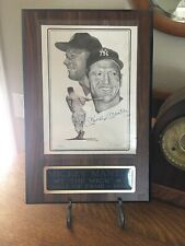 MICKEY MANTLE  AUTOGRAPH IN INK on Art by JERRY HERSCH - With Authenticity