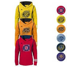 Adidas MLS Performance Team Logo Pullover Hoodie Collection Youth Girls (S-XL)