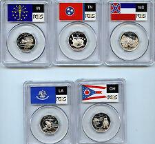 2002 S State 5 Silver Quarter PCGS Graded PR69 DCAM Proof 25 Cent coin set