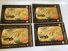 Vtg Lot Swan Pond Lily Pad Decals American  Decalcomania Transfers Decor
